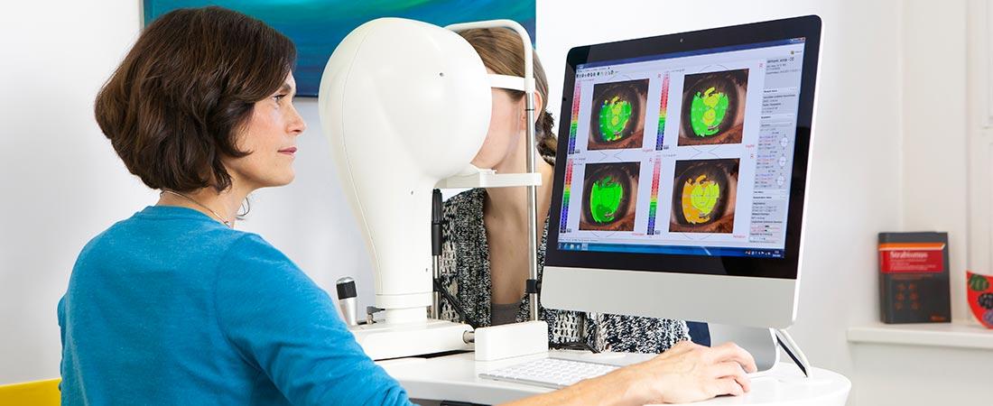 Tränenfilm-Analyse mit Video-Keratoskopie